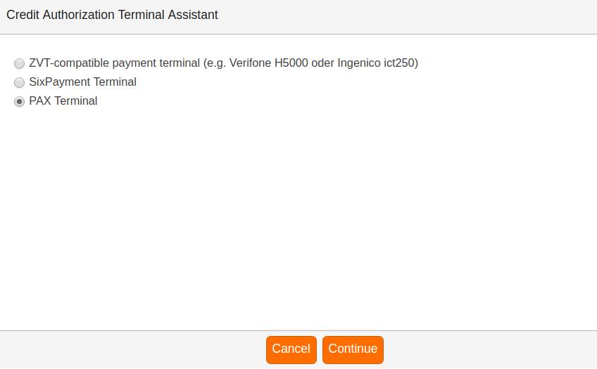 Credit Authorization Terminal Assistant (PAX) » KORONA pos